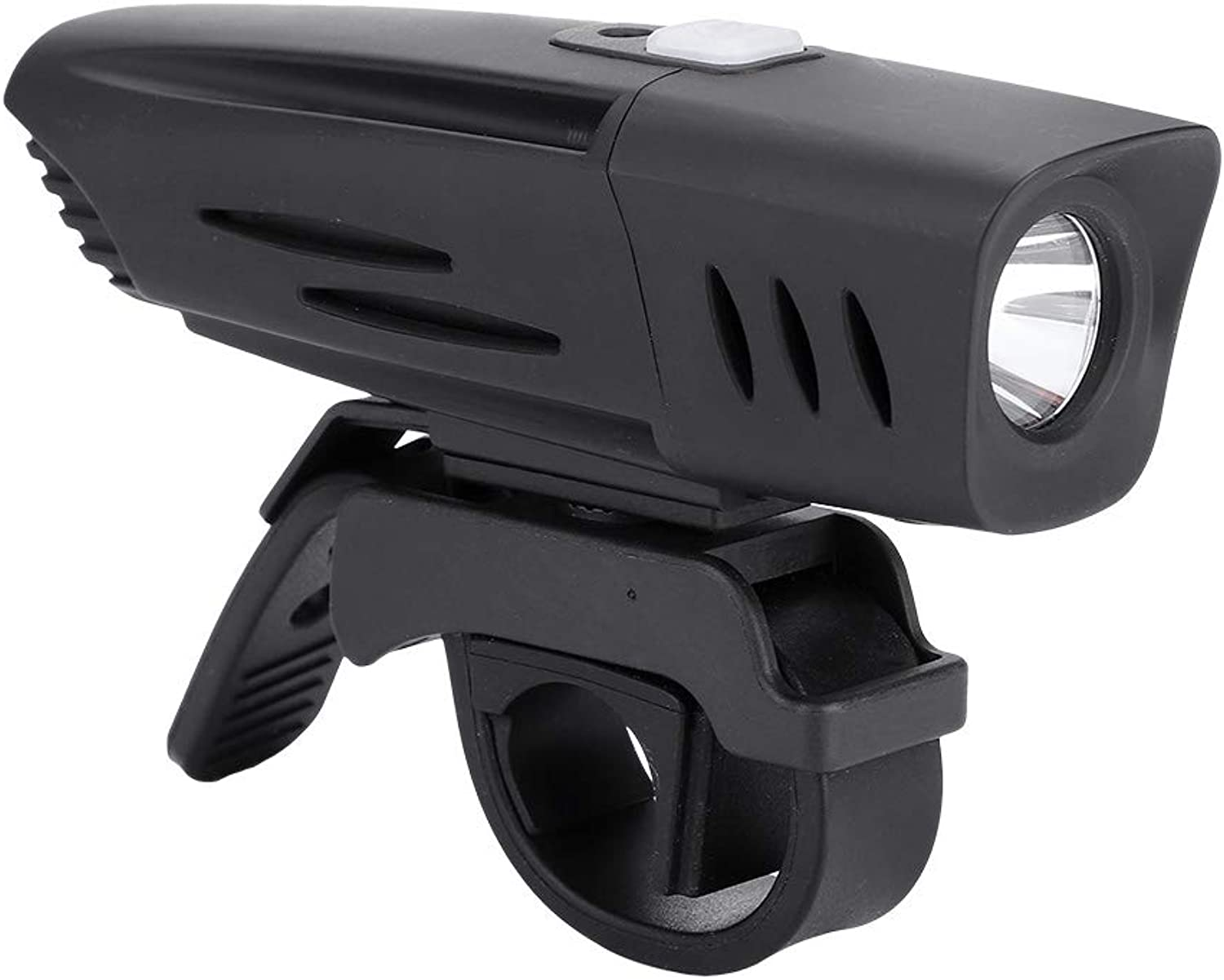 Bike Front Light, Waterpoof USB Rechargeable Battery Powered Bicycle Headlight with Mount USB Cable for Safety Cycling Road Mountain Bike