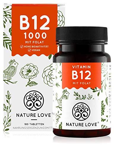 Nature Love® | Vitamine B12 | Winnaar consumenten onderzoek | 180 tabletten | Veganistisch