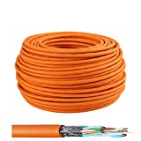 LW Cable de tendido electrónico de alta calidad Cable de red Gigabit S/FTP PIMF 1000MHz Cat7 4x2xAWG23 LSZH Cableado Cable de datos LanCable CAT7 Naranja Cat7 100m