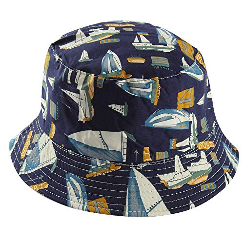 WX Comercio Exterior AliExpress Bucket Hat Mujer Estilo Japonés Velero De Doble Cara Wear Bucket Hat Hombres Moda Al Aire Libre Gorra Plana Bucket Hat