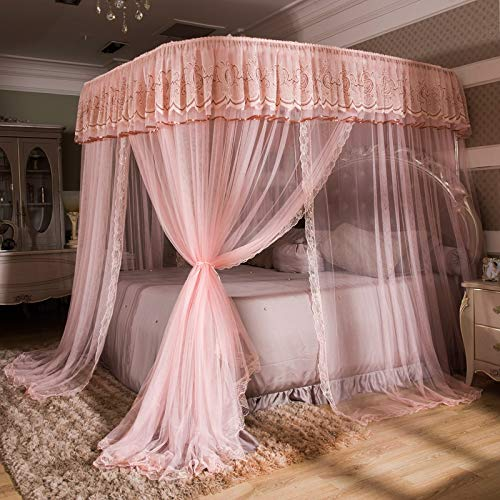 Great Price! Jueven Mosquito Net Palace-Style Bed Canopy, Tent for Full, Double, Queen to Super King...