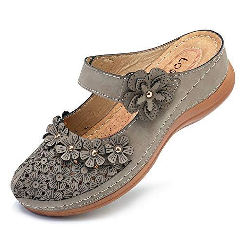 gracosy Damen Clogs Weiche Beiläufig Niedrige Pantoletten mit Keilabsatz Bequeme Walking Schuhe Classic Specialist Clogs Slip on Sommer Sandalen Hausschuhe