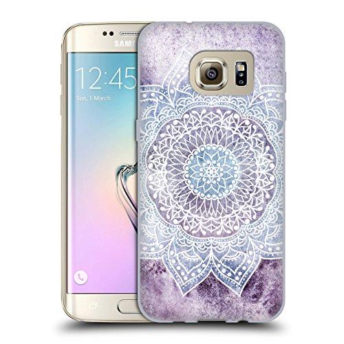 Head Case Designs Licenza Ufficiale Nika Martinez Porpora Intenso Mandala Cover in Morbido Gel Compatibile con Samsung Galaxy S7 Edge