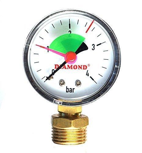 Industrial 50mm hydraulisch Manometer 4bar 1/5,1cm