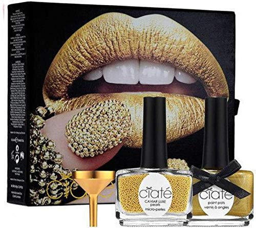 Ciaté Ciate Caviar Manicure Luxe Lustre Gold Geschenkdoos 13.5Ml Nagellak Nagels In Ladylike Luxe + 60G Caviar Luxe Perle + Funnel