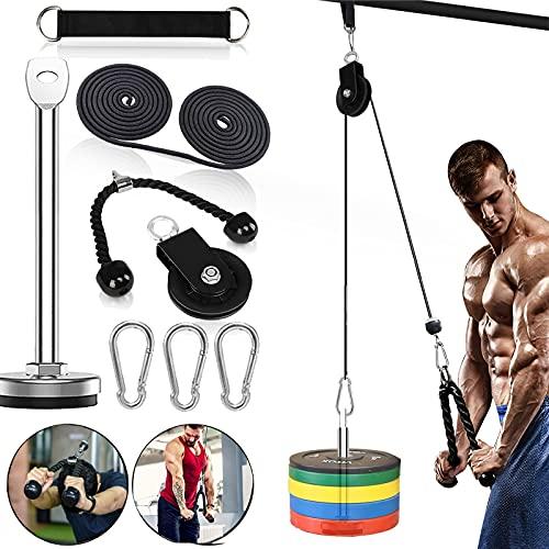Kabelzug Pulley Fitness LAT Lift Flaschenzug System Professionelle Maschine Muskelkraft Home Gym Fitnessgeräte für Bizeps...