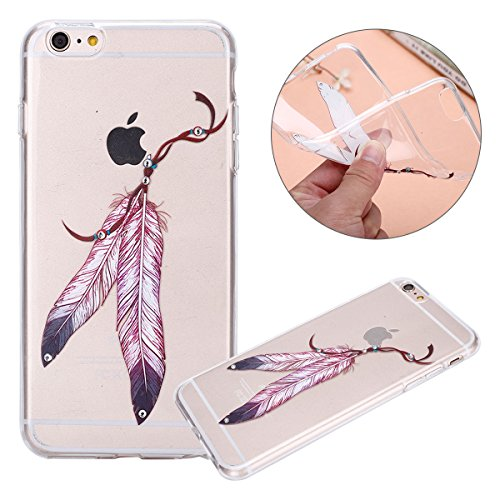 Custodia iPhone 6, Cover iPhone 6S Trasparente, Brillantini Cover Custodia in Silicone per iPhone 6 / 6S Apple, Surakey Belle Elegante Custodia con Glitter Sottile e Morbida TPU Gomma Case Colorate Bling Stella Flessibile Clear Gel Cassa Antiurto Protetti