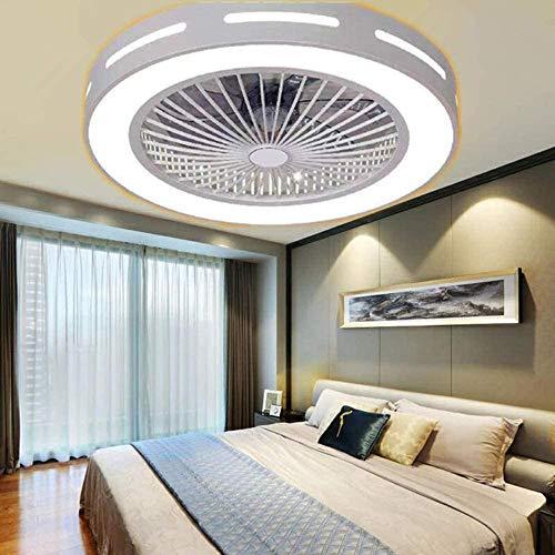 Ventilador de techo con luz, ventilador invisible creativo, con control remoto regulable, lámpara de ventilador LED, sala de estar, habitación infantil moderna, ventilador de techo, luz de techo