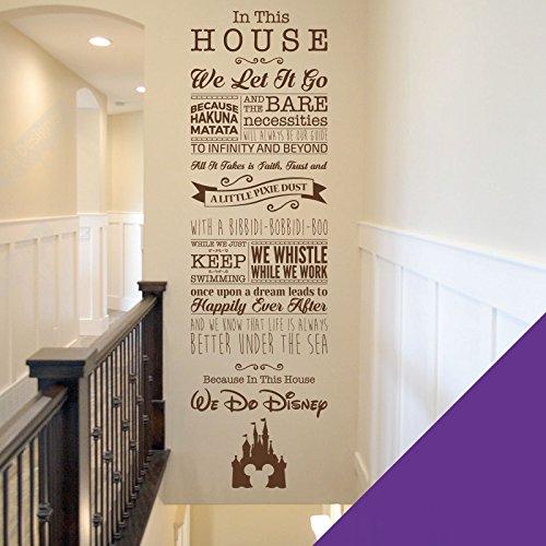 Disney-inspirierter Wandaufkleber fürs Kinderzimmer (Tinkerbell, Toy Story, Kleine Meerjungfrau, König der Löwen), engl. Version, violett, X-Large (1800 x 550mm)
