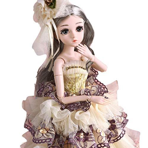 Nikula Intelligent verklighetstrogen delikat docka prinsessdocka gåva för barn 45 cm överallt