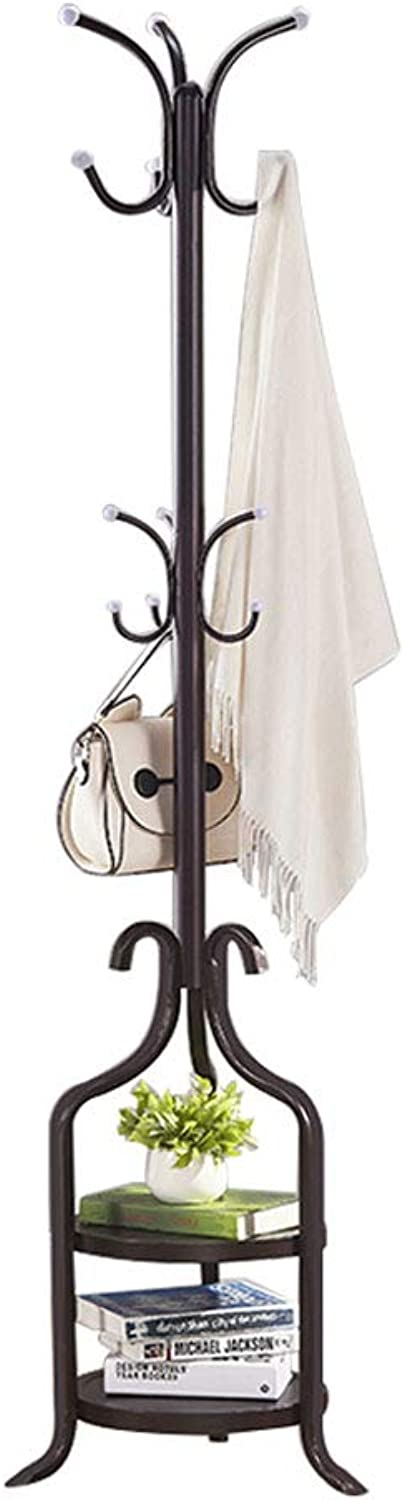 Clothes Rack Coat Stand Hat Rack Multifunction Hooks for Storage Bedroom Office Hallway Garage Free Standing Pergola Flower Stand Iron 180×42cm (color   B)