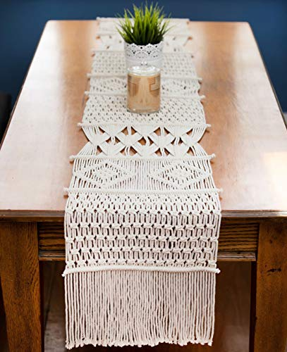 Macrame Table Runner, Boho Table Runner 86 x 13 inches, Perfect for Bohemian Decor, Boho Wedding...