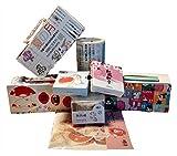 Set Nr. 1 Japanischer Stil – Top Qualität – Washi Tape – insgesamt 18 m Klebeband und 210 Sticker, ideal für Scrapbooking