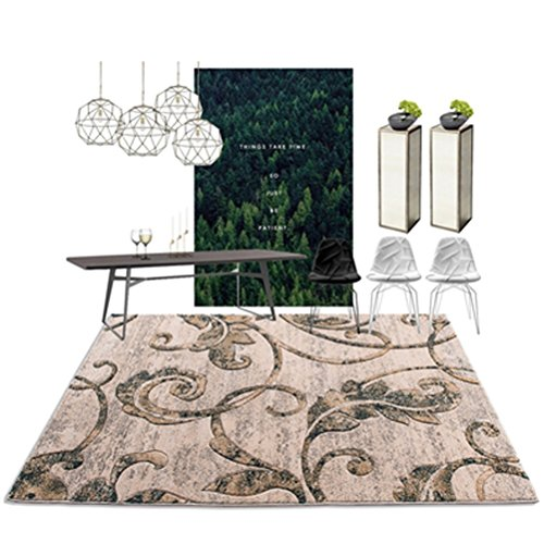WLH- Moderne Simple Living Room Carpet Europese Bank Tapijt Slaapkamer Nachtlampjes Household Mats (Color : C, Size : 120x170cm)