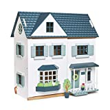 Tender Leaf Toys - Dovetail House - Large Luxury 27.36' Tall 6 Rooms Pretend Play Doll House - Encourage Creative and Imaginative Fun Play for Children 3+