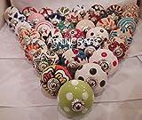 30petites 2,5cm assorties tiroirs en céramique Multicolore boutons de porte de placard tirettes Mélange indien boutons