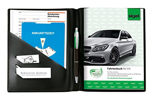 SIGEL EF510 Einband für Formularbücher A5, mit Einstecktaschen und Stifthalter, schwarz