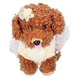 KUIDAMOS Perro de Control por Voz, Mascota electrónica interactiva de Mano de Obra cumpleaños para niños de 3 años o más(Osito de Peluche)