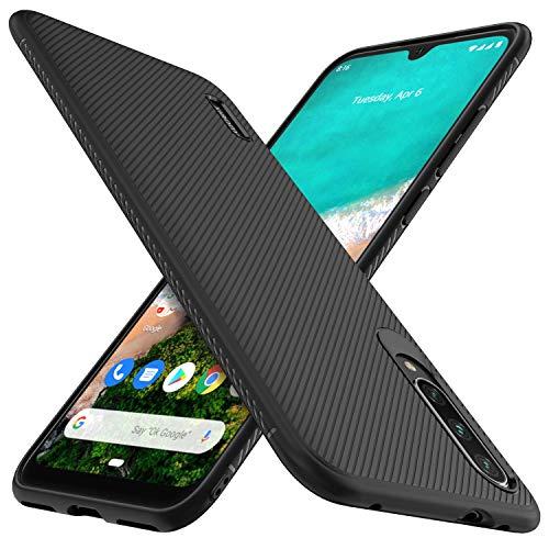 iBetter per Xiaomi Mi A3 Cover, Thin Fit Gomma Morbida Protettiva Cover, Protezione Durevole,per la Xiaomi Mi A3 Smartphone.(Nero)