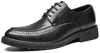 [ダキシ] Uチップ 紳士靴 穴飾り エナメル レースアップ ウォーキング カジュアル 通気性抜群?フォーマル クラッシック シンプル 蒸れない 通気ソール レースアップ ウォーキング 軽量 防滑 オールシーズン 普段用