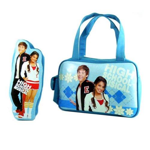 Disney Turnbeutel High School Musical Geschenksets Handtasche mit Federmäppchen Blau 37890-DI