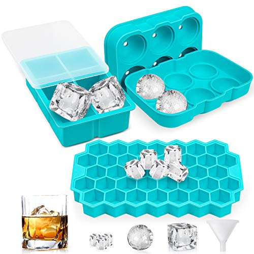 Newdora Ice Cube Trays (Set of 3...