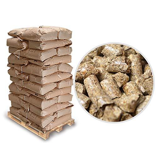 HorsLi Premium Leinen-Pellets Flachs-Pellets Flax Linen Pferde-Einstreu Boxen-Einstreu (1 Palette 720Kg = 36 Säcke)
