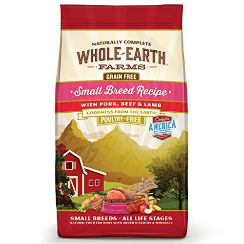 Whole Earth Farms Grain Free Small Breed Pork, Beef & Lamb Dry Dog Food