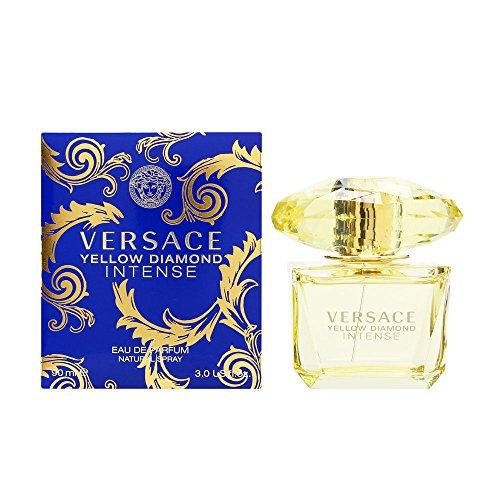 Versace Ver521032 Fragancia de diseño intenso de diamante amarillo, 90 ml
