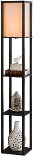 GuanDun Lámpara de pie con Estante, 3 capas de madera Estantería de pie de luz, lámpara de lectura moderna for el dormitorio, sala de estar, oficina, casa decoración minimalista de Europa (sin bombill
