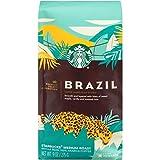 Starbucks Brazil Single Origin Medium Roast Whole Bean Coffee 9oz, pack of 1