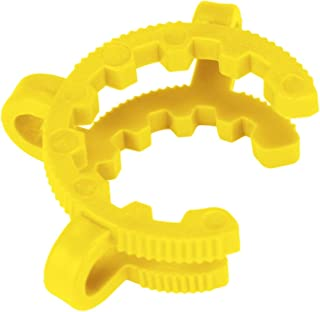 Yellow Plastic Joint Clips, 12 pcs 14mm Lab Keck Clamp #14 Keck Clips for 14/20 Joint Glass Standard Conical Interface Clip Ground Glass Joint Lab Accessory