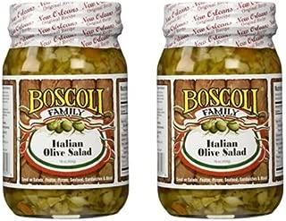 Boscoli Italian Olive Salad - Small, 15.5 ounce (Pack of 2)