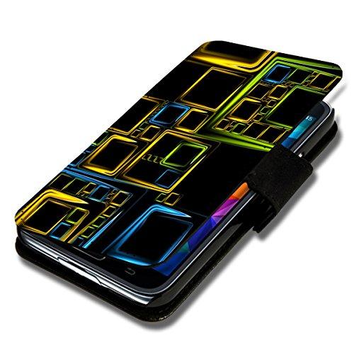 sw-mobile-shop Book Style Flip Handy Tasche Case Schutz Hülle Schale Motiv Etui für Wiko Stairway - Flip 1A46 Design6