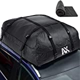 Abaxial (18 Cubic Feet) Waterproof Rooftop Cargo Carrier- (Heavy Duty) Car Roof Cargo Bag- Roof Top Luggage Storage Bag- (Bonus) Anti-Slip Mat. Perfect for Car, Van,Truck, SUV with/Without Rack.
