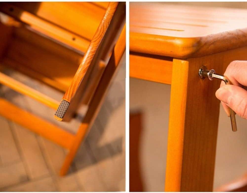 BATOWE Chaise Pliante en Bois Ladder Ladder Tabouret en Bois Pliable à Double Usage 4 (Color : 3#-2 Steps) 1#-2 Steps