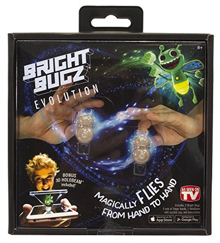 Bright Bugs Evolution Toys - Experience the Magic of Light-Up Bugs - Learn Cool Illusion Tricks - Try the Holobeam for Even More Fun - Ages 3 and Up - Green