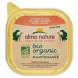 almo nature Bio Organic Maintenance con Salmone -Cibo Umido per Cani Adulti - Pacco da 9 x...