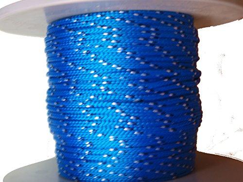 PJ Corderie PP12B2 Polypropylène Corde 2mm Ø; 85 kg; 12m; Bleu avec taches N&B;