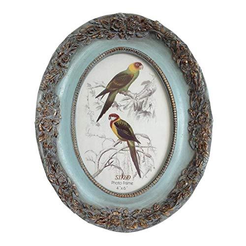 Vintage Marco de foto ovalado para decoración del hogar