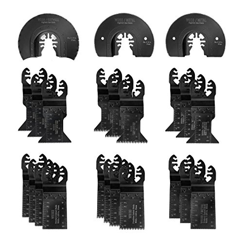 WORKPRO 23-piece Oscillating Saw Blades Set for Quick Release Multitool, Metal/Wood Blades for Dewalt, Craftsman, Ridgid, Milwaukee, Rockwell, Ryobi and More