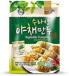 Surasang Korean Vegetable Dumpling, 1kg - Frozen