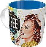 Nostalgic-Art Taza Retro Coffee O' Clock – Idea de Regalo para los Amantes del café, cerámica, Divertido diseño Vintage con Frase
