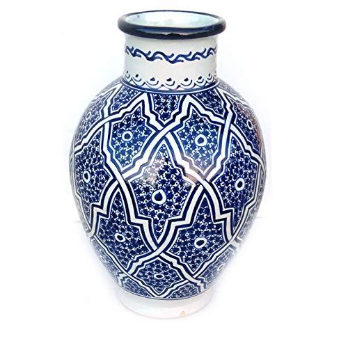 Marokkanische Vase Blau   Orientalische Vasen und Dekogegenstände  Orientalische Dekoration   Dekoartikel aus dem Orient