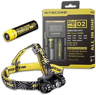 Bundle: Nitecore Headlamp HC50 2016 Model -760 Lumens w/NL183 Battery & D2 Charger