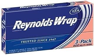 Reynolds Wrap Standard Aluminum Foil, 3 boxes of 200 Square Feet (600 Total)