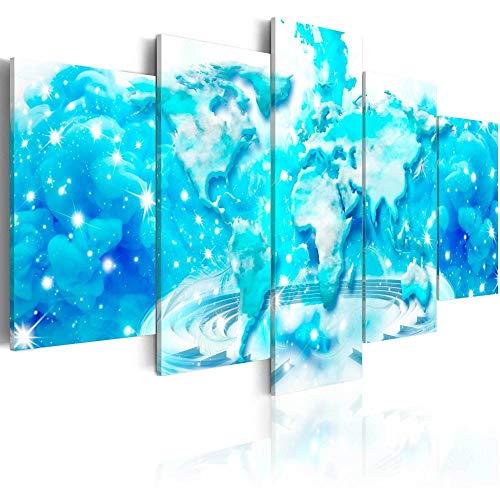 runtooer Bilder Dekorative Malerei Spray Malerei Leinwand Malerei 5 Stück Modern Wolken-Atlas Leinwand Wandbild, Möbel Art Deco, Rahmen
