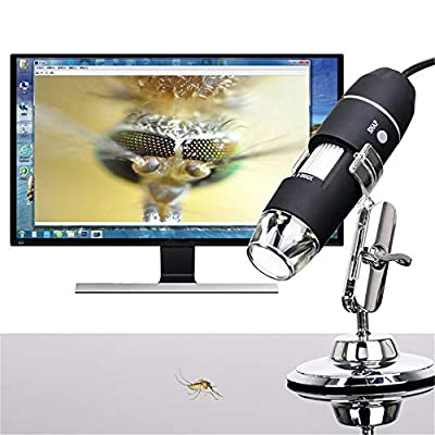 Hot Sale!DEESEE(TM)????????Portable USB Digital Microscope 50x-1000x Magnification 8-LED Mini Microscope Endoscope Camera Magnifier with Stand