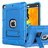 iPad 6th Generation Cases, iPad Case, iPad 9.7 Inch Case, Hybrid Shockproof Rugged Drop Protection Cover Built with Kickstand for iPad 9.7 inch A1893 / A1954 / A1822 / A1823 (Blue+Black)