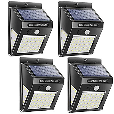 Solar Lights Outdoor, Wireless 24 LED Motion Sensor Solar Lights with Wide Lighting Area, Easy Install Waterproof Security Lights for Front Door, Back Yard, Driveway, Garage ...